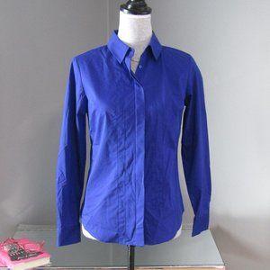 NWT Worthington Petite Verve Violet Pintuck Shirt